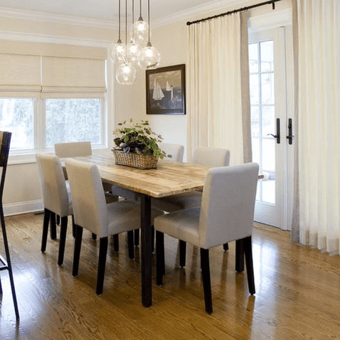 Shine a Light Fixture for old dining table decor