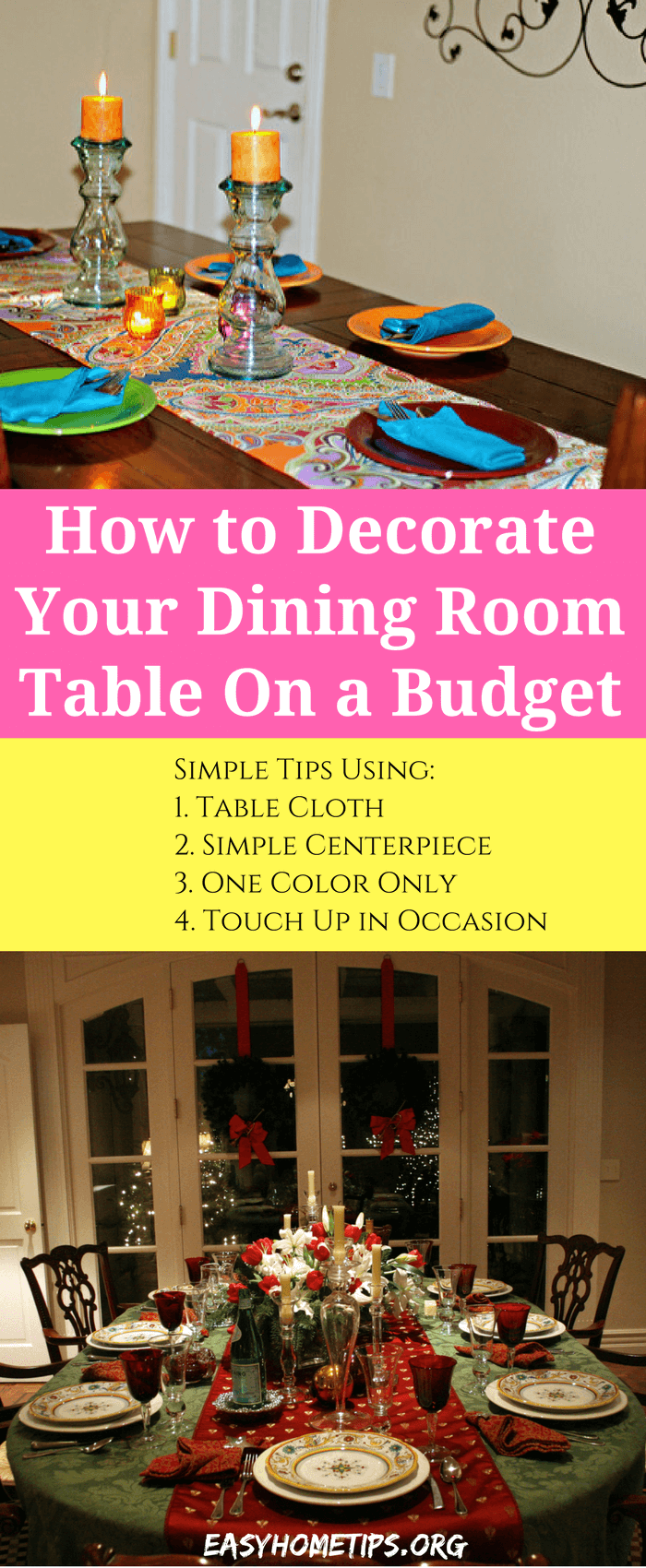 Simple Tips How to Decorate Your Dining Room Table On a Budget