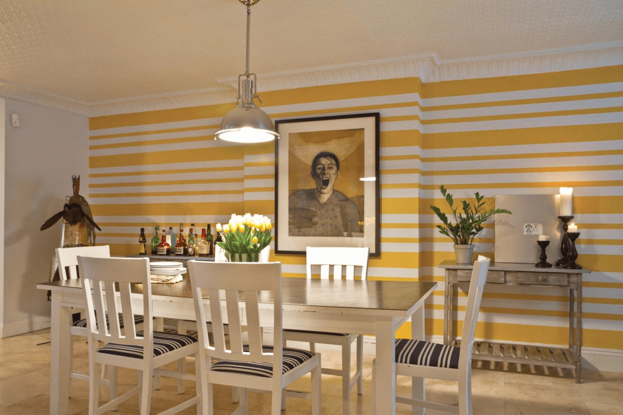 Striped Dining Room Wallpaper Painting