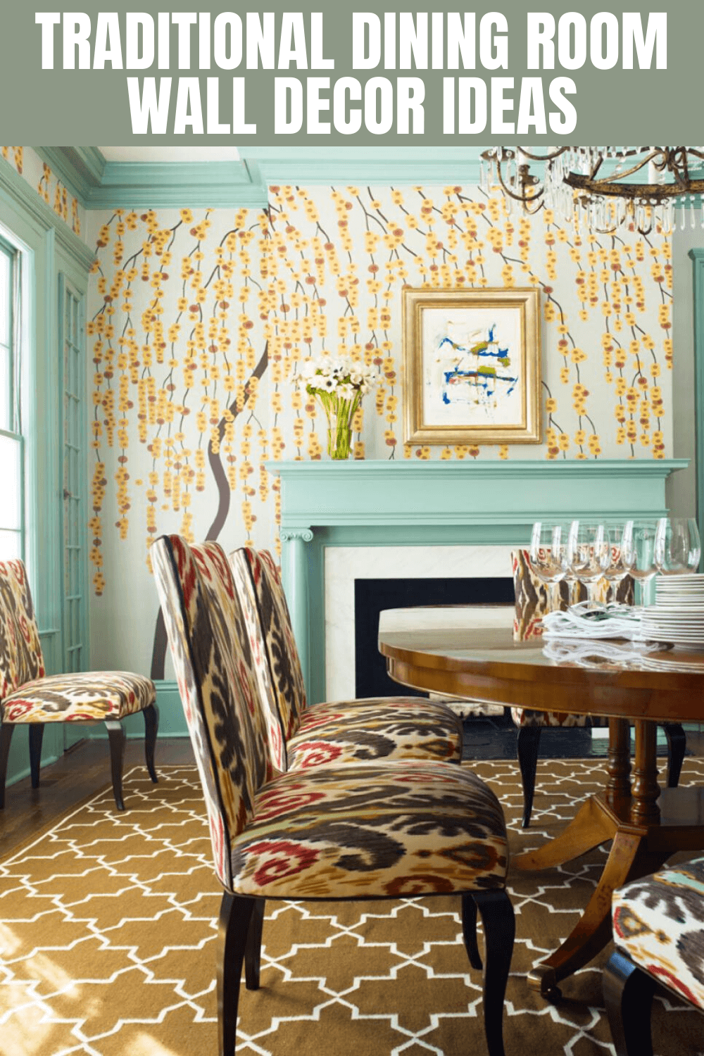 TRADITIONAL DINING ROOM WALL DECOR IDEAS