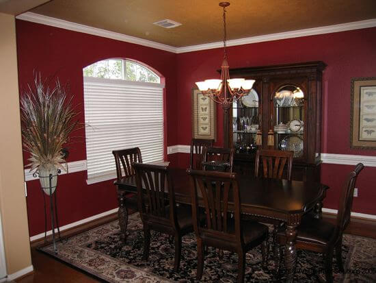Tan and Maroon Dining Room Wall Color Ideas
