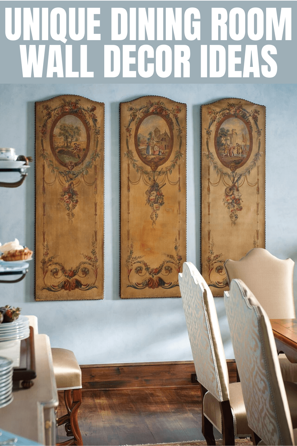 UNIQUE DINING ROOM WALL DECOR IDEAS