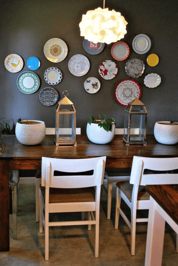 Unique Plates for Large Dining Room Wall Decor