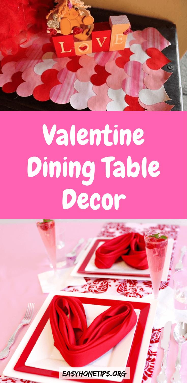 Valentine Dining Table Decor