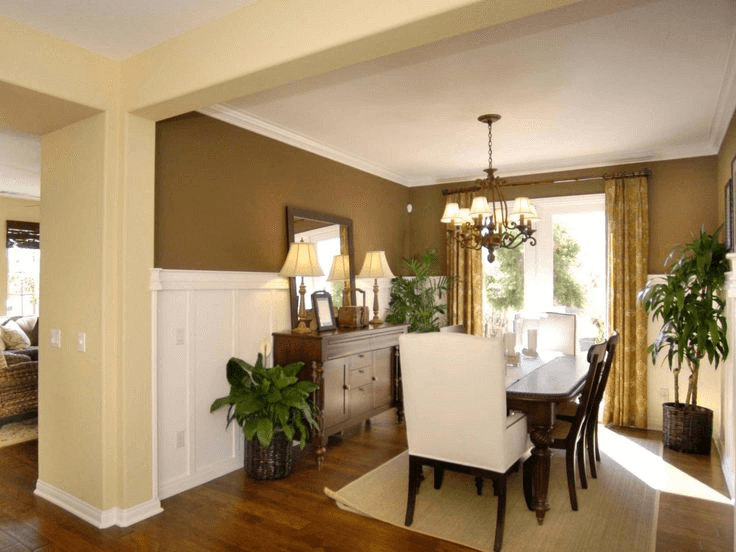 Wainscoting dining room decor ideas