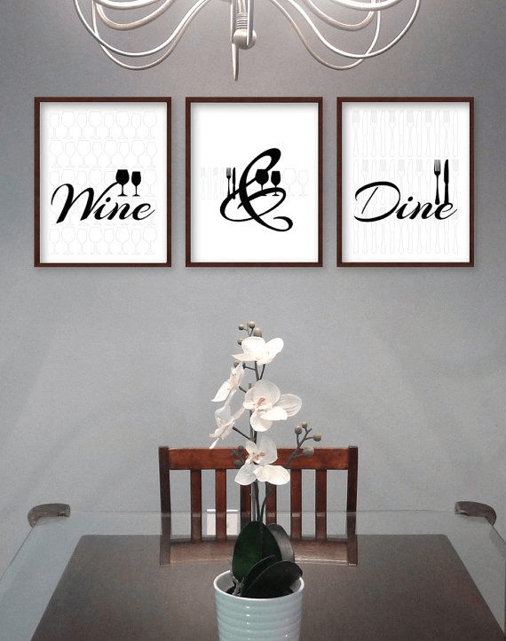 Wall Art Word Dining Room Decor