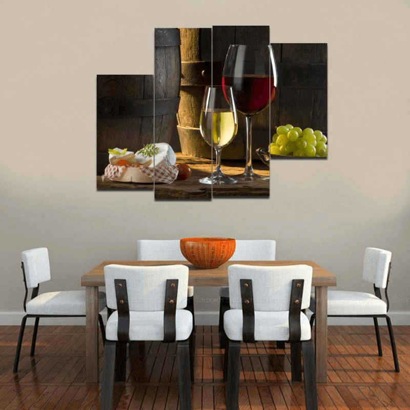 12 Rustic Dining Room Ideas: Wall Picture Display Dining Room Decor Rustic