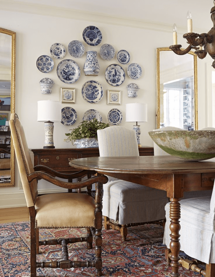 Asheville Textured Plates Farmhouse dining room wall decor ideas