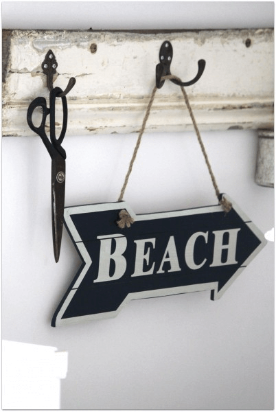 Beach signs wooden DIY for Rustic Home Decor