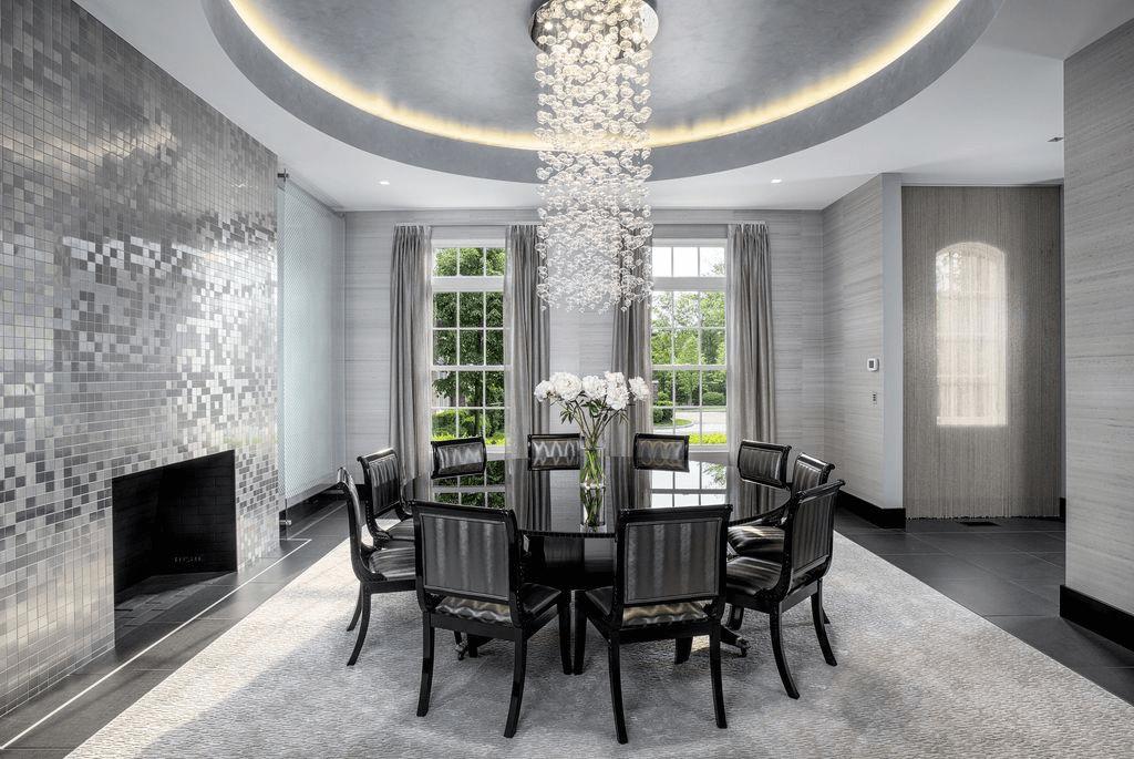 Cement wall tile phoenix dining room decor ideas