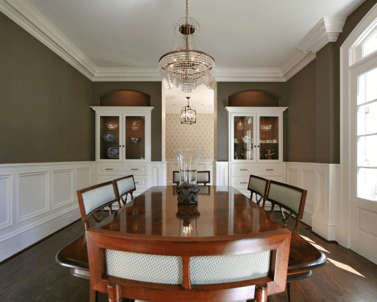 Crown dining room wall molding ideas