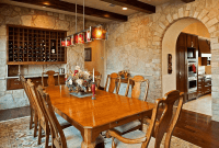 Dining Room Wall Tile Ideas Mediterranean Stone Style