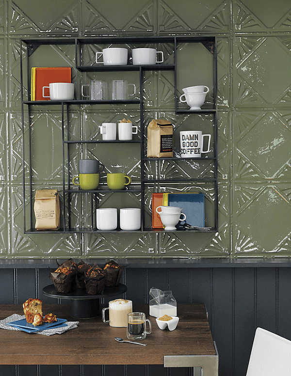 Interesting Dining Room Wall Décor Shelves Ideas