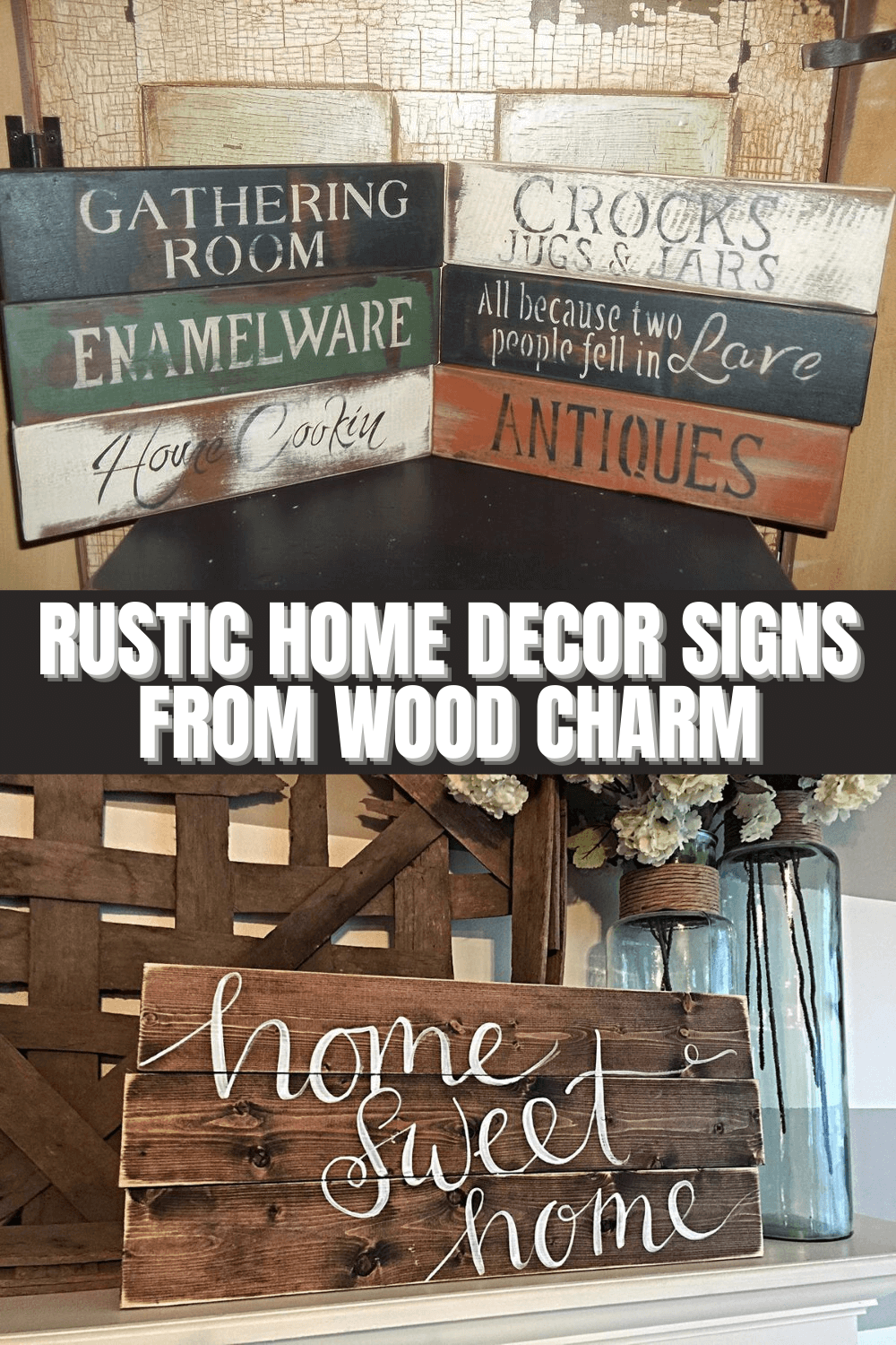 RUSTIC HOME DECOR SIGNS FROM WOOD CHARM