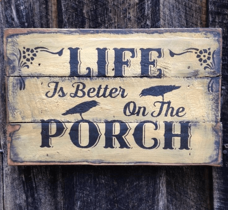 Reclaimed wood door sign for rustic home decor ideas