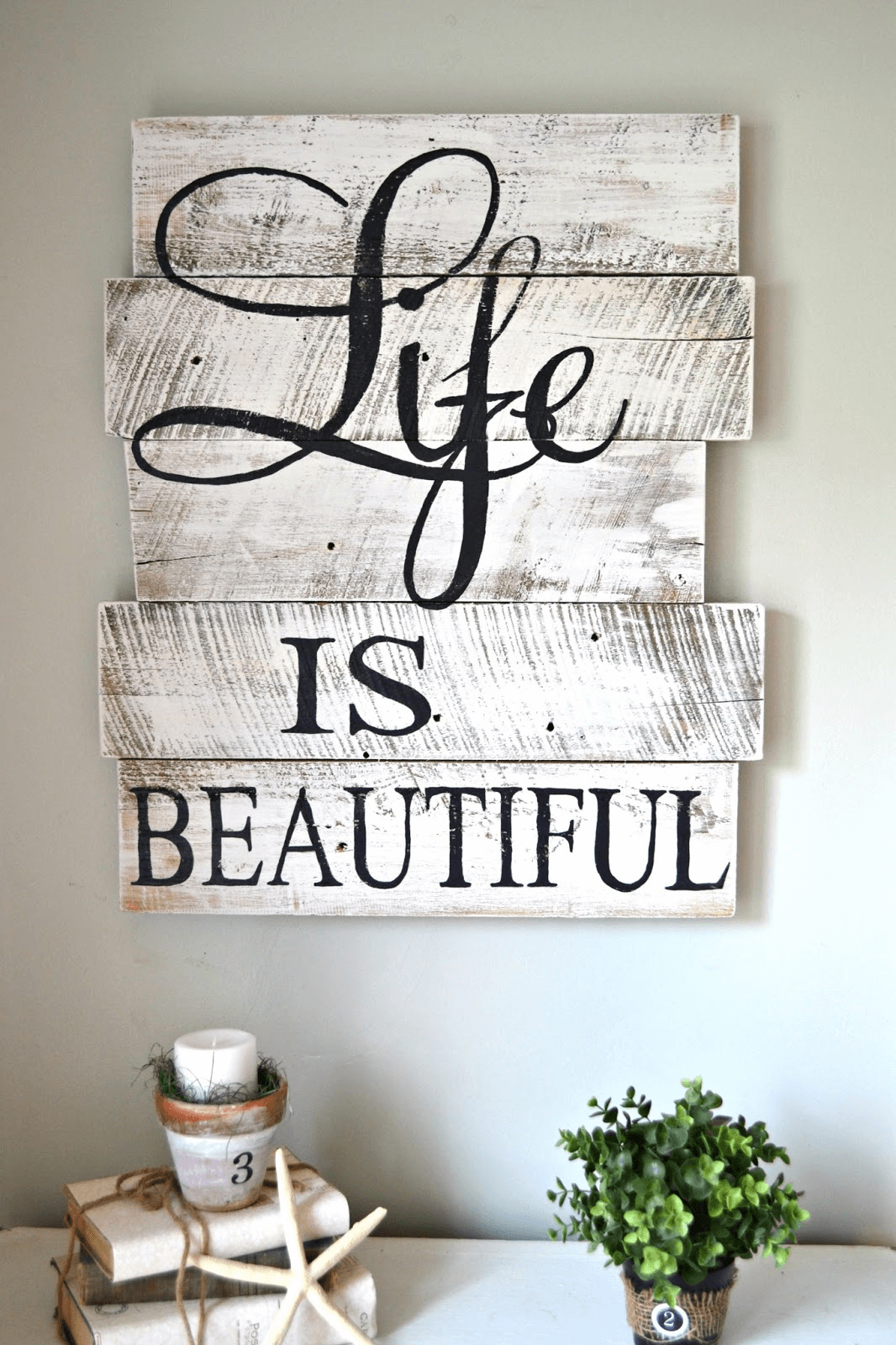 Rustic home decor signs wall hangings