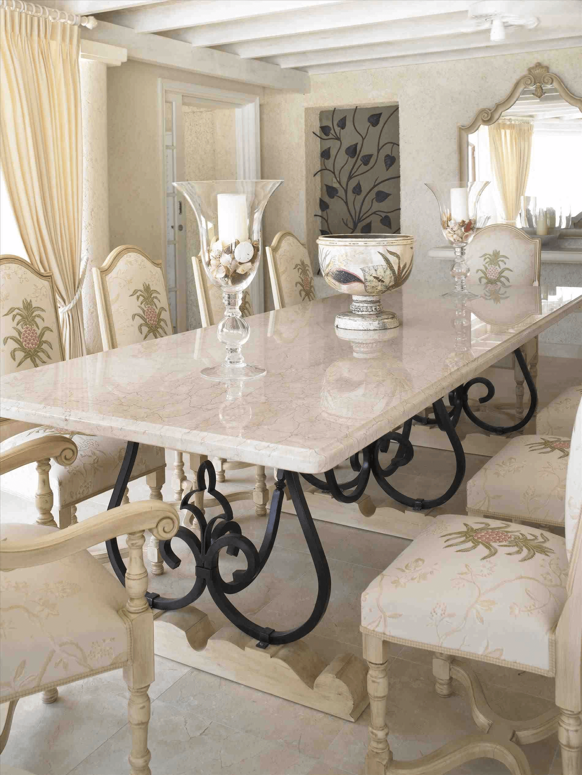How To Decorate A Marble Top Dining Table