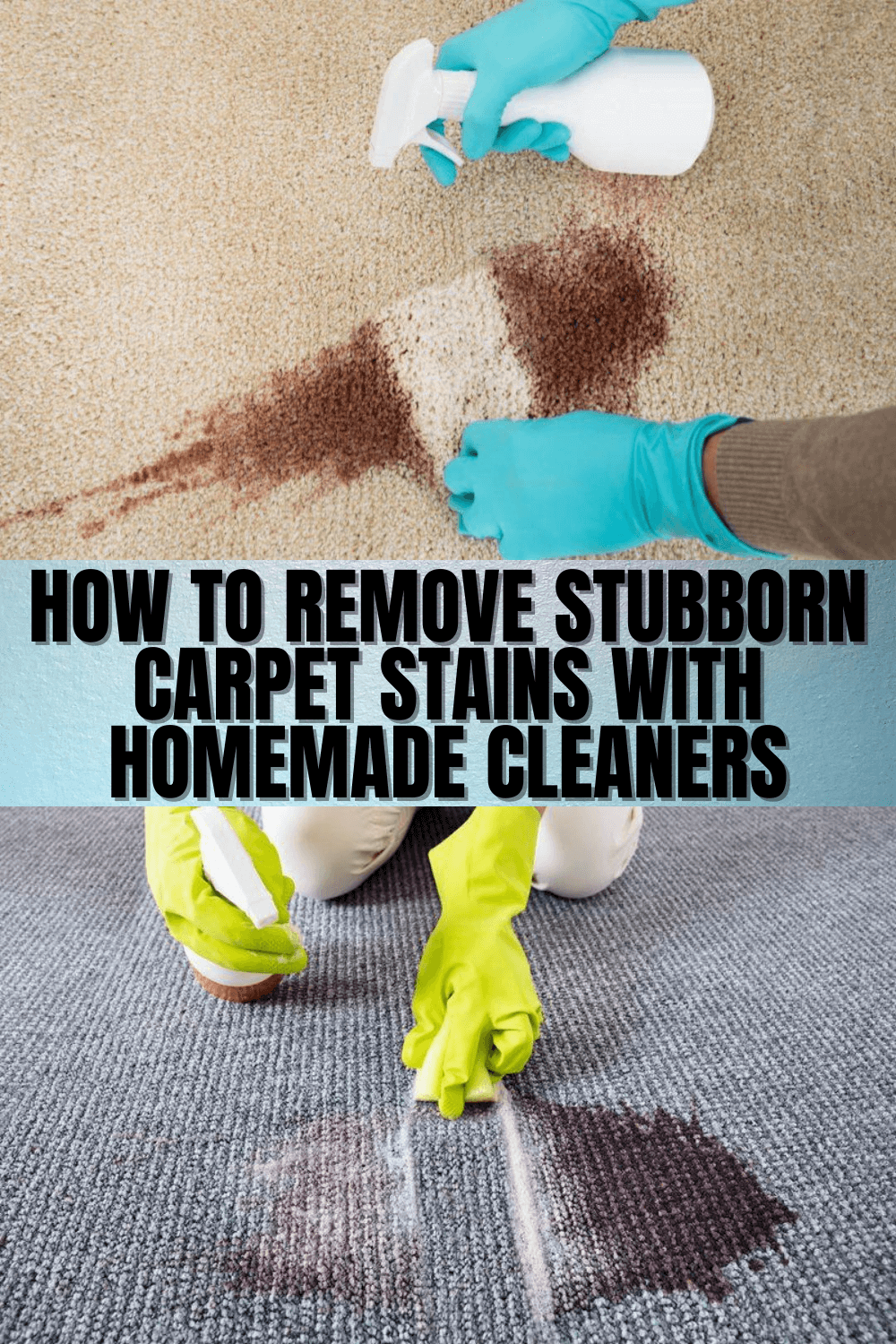 How to Remove Stubborn Carpet Stains with Homemade Cleaners