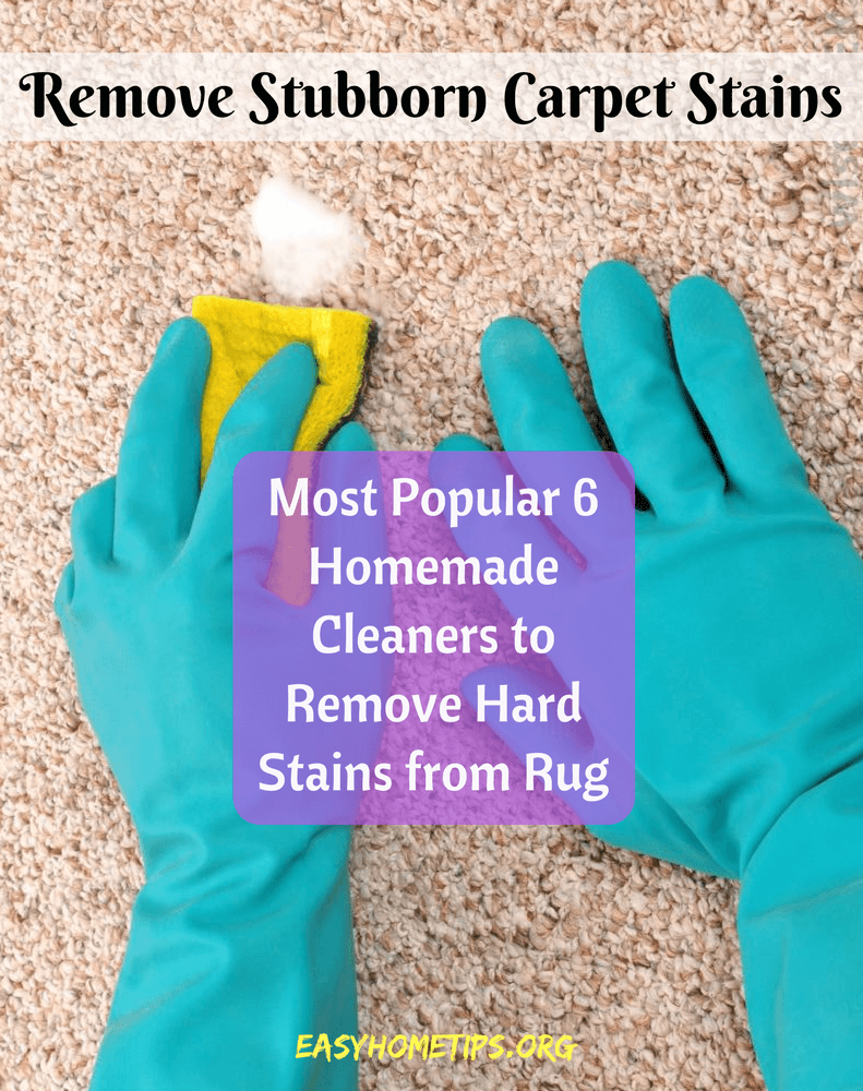 Remove Stubborn Carpet Stains