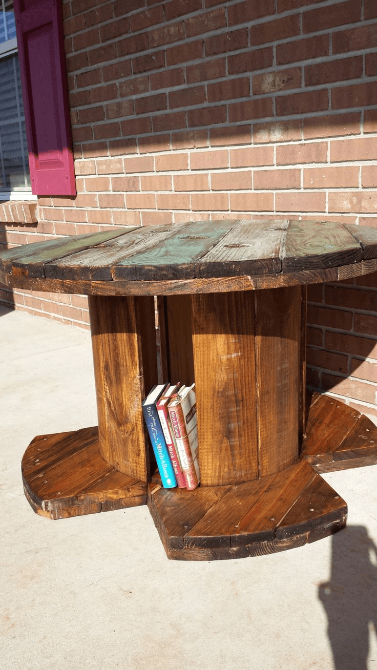 Repurposed Reel Stall for rustic farmhouse decor ideas