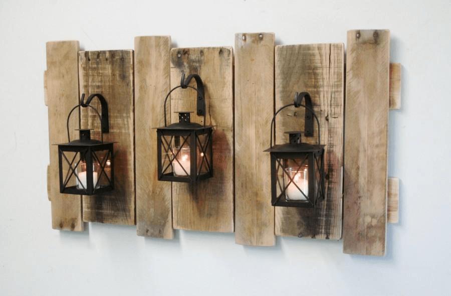 Rustic farmhouse porch decor ideas with Rusty Lantern as Unique Hanging Pot