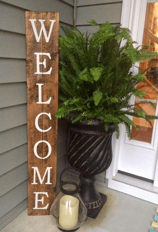 Welcome Sign rustic farmhouse porch decor