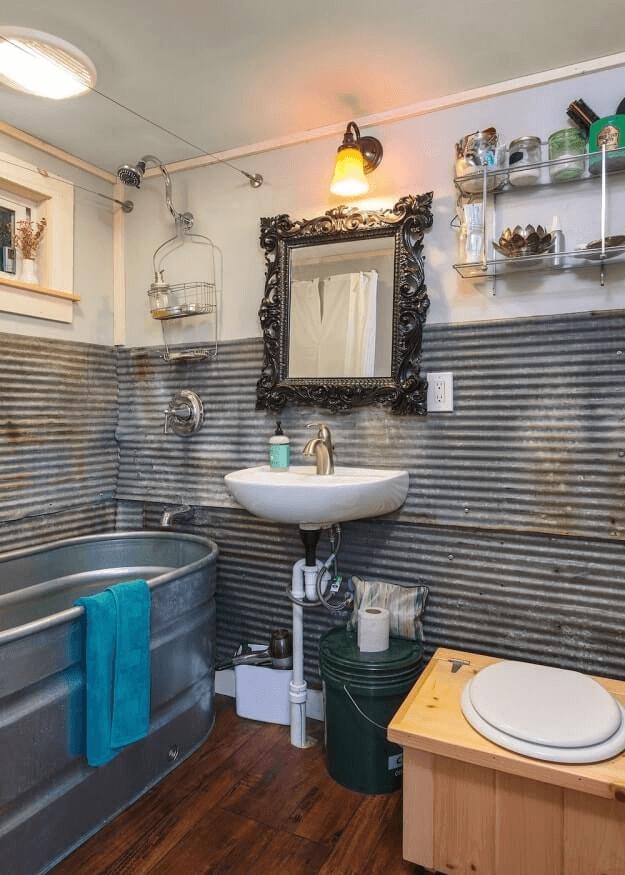 Bathroom tiny house design ideas