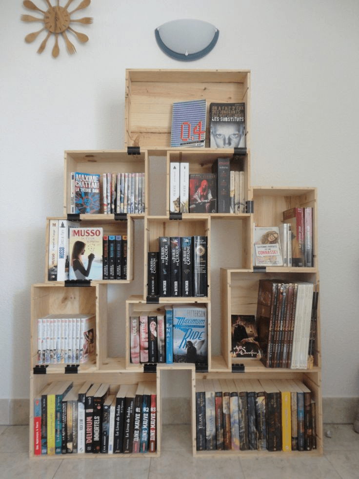 Crate Bookshelf DIY ideas