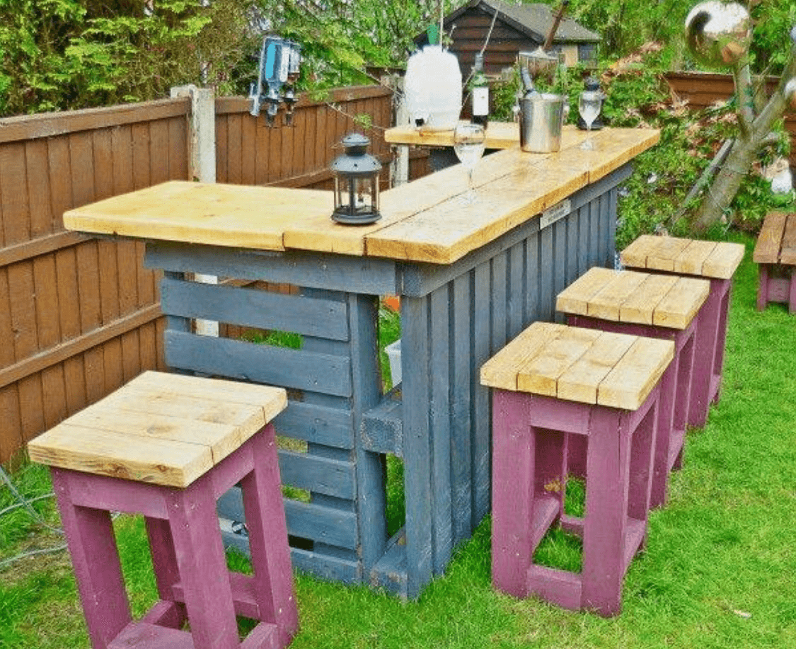 Crate Outdoor Bar Table Sets