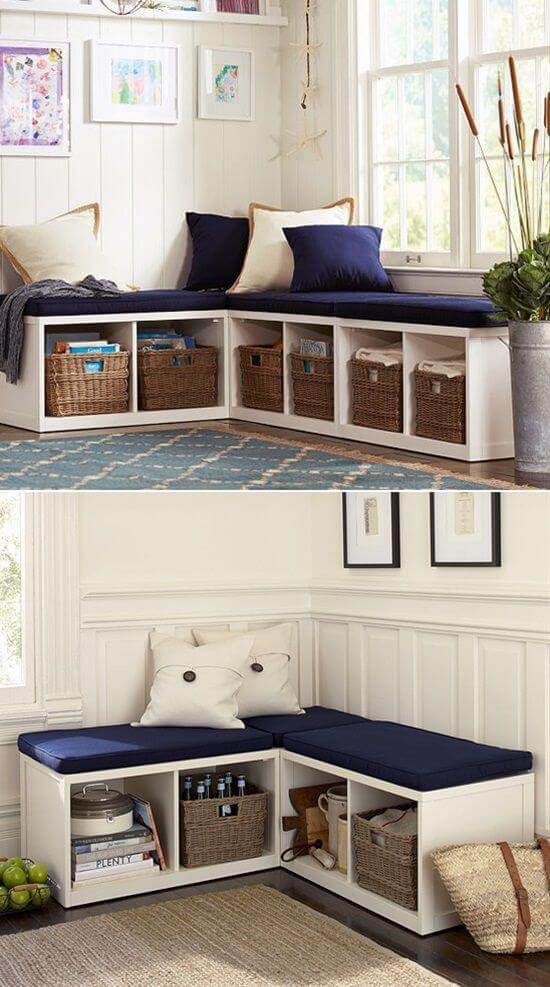 Double duty furniture space saving for tiny house or small space