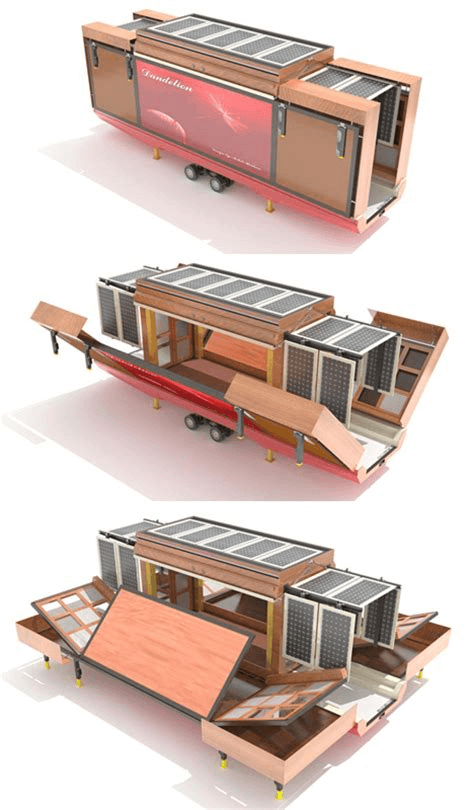 Folding tiny house design ideas