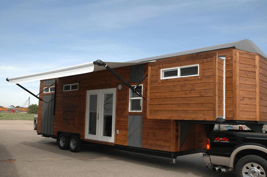 Gooseneck tiny house trailer