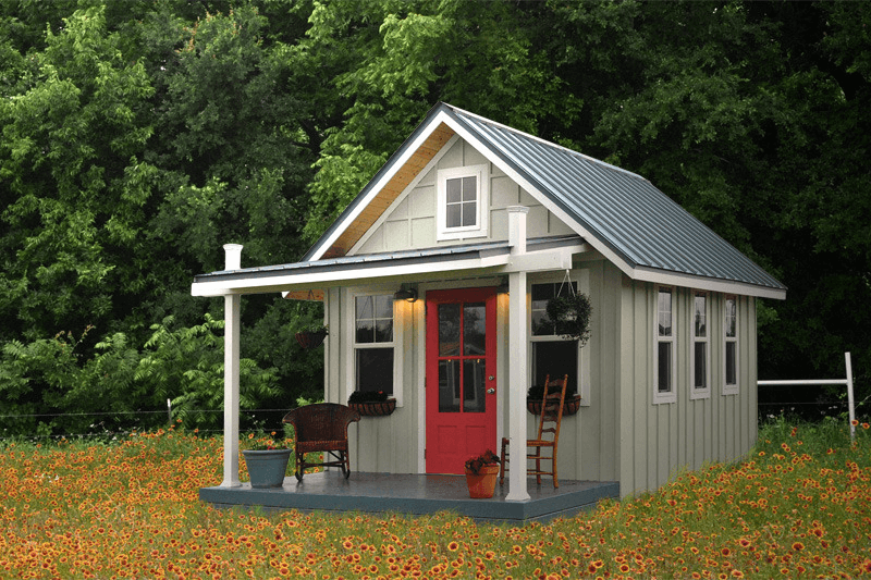 How much tiny vacation house cost to build?