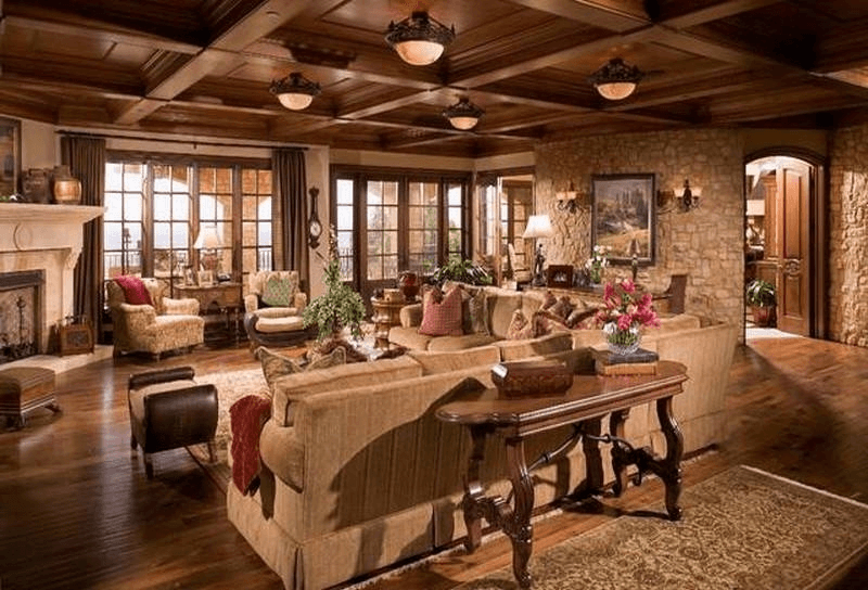 Living Room Rustic Italian Decor Ideas