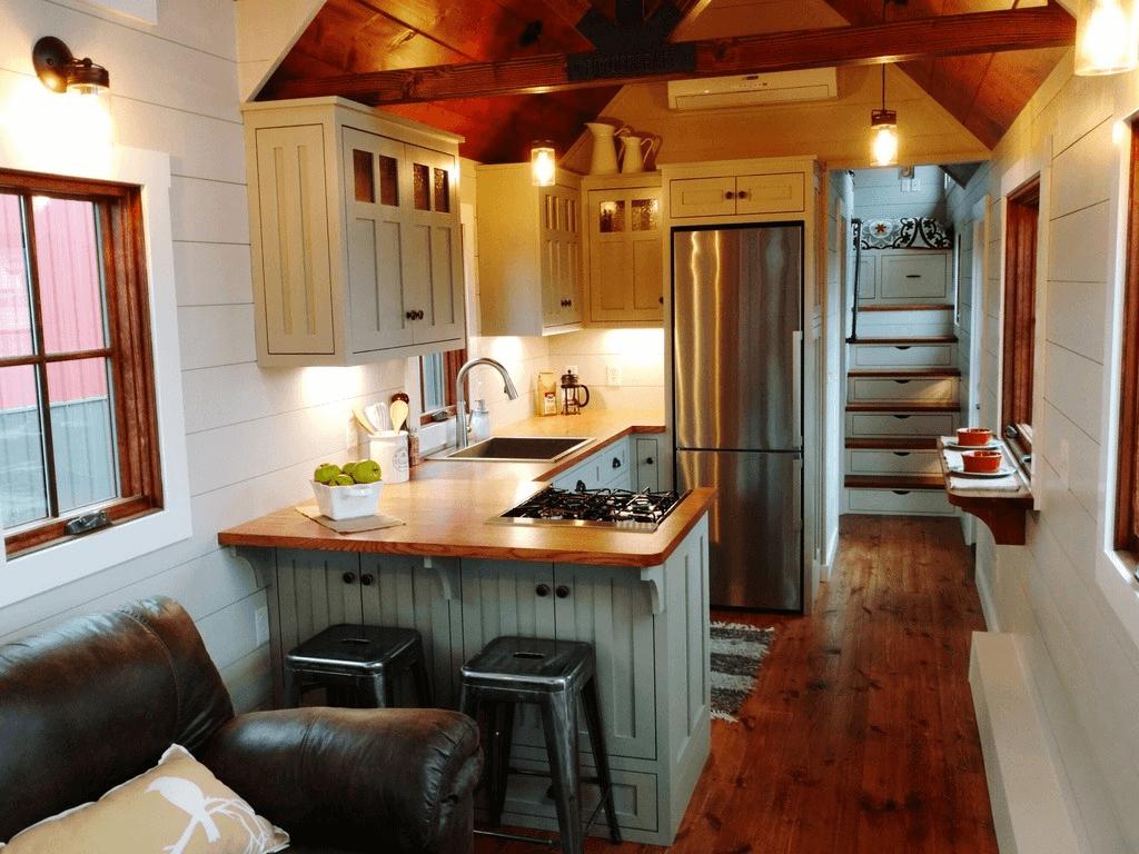 Luxury interior kitchen tiny house