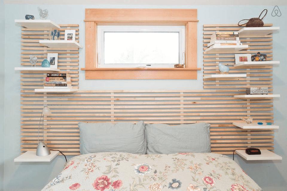 Slatwall Shelving ideas for tiny house