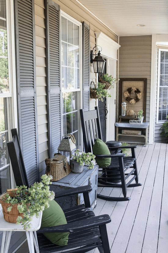 Small front porch decorating farmhouse