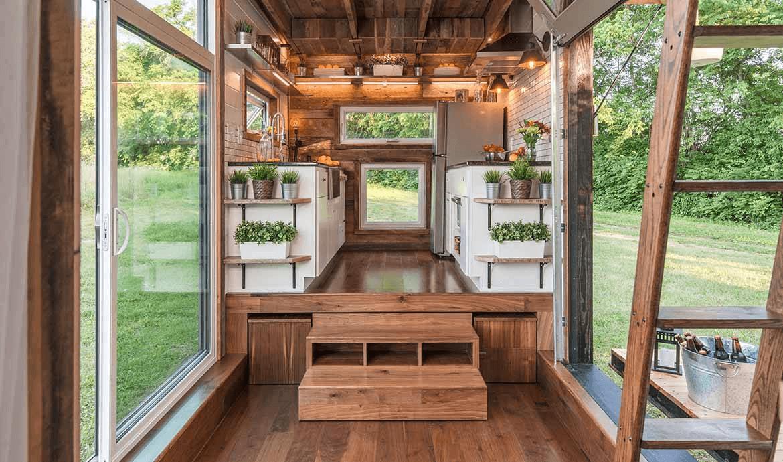 Tiny house Roulante interior design