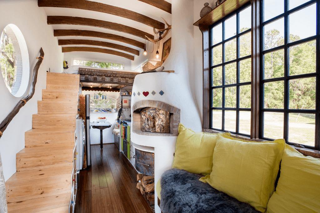 Tiny house fireplace ideas
