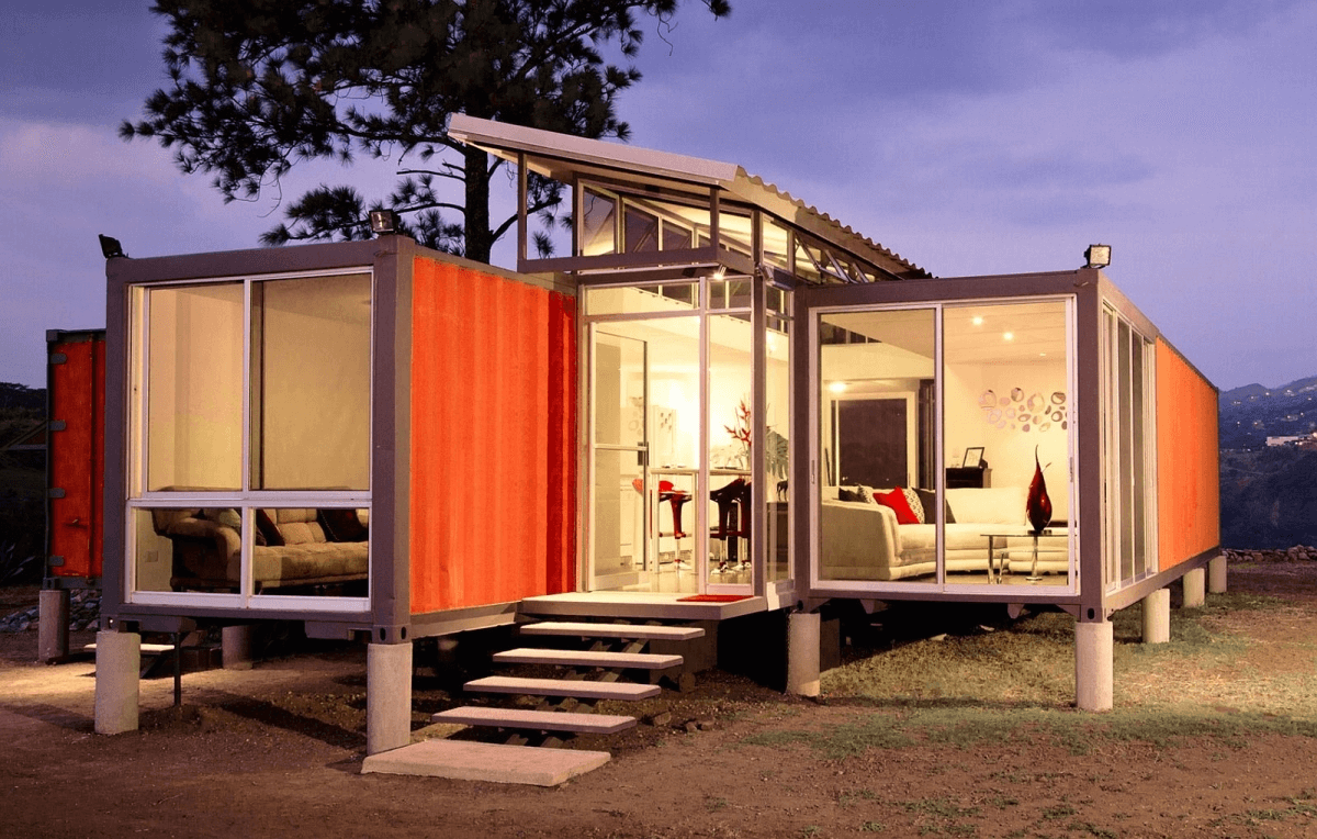 Tiny house shipping container