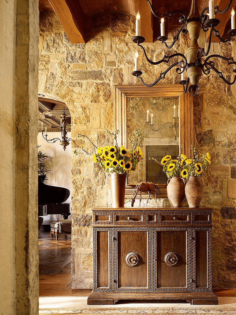 Wall and Entry Tuscan Flavor Rustic Italian Decor Ideas