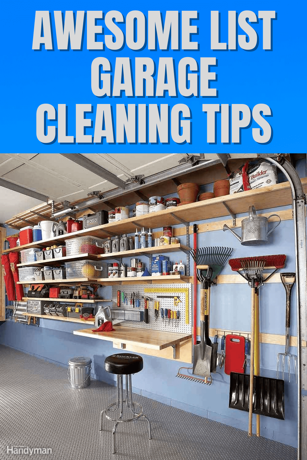 AWESOME LIST GARAGE CLEANING TIPS