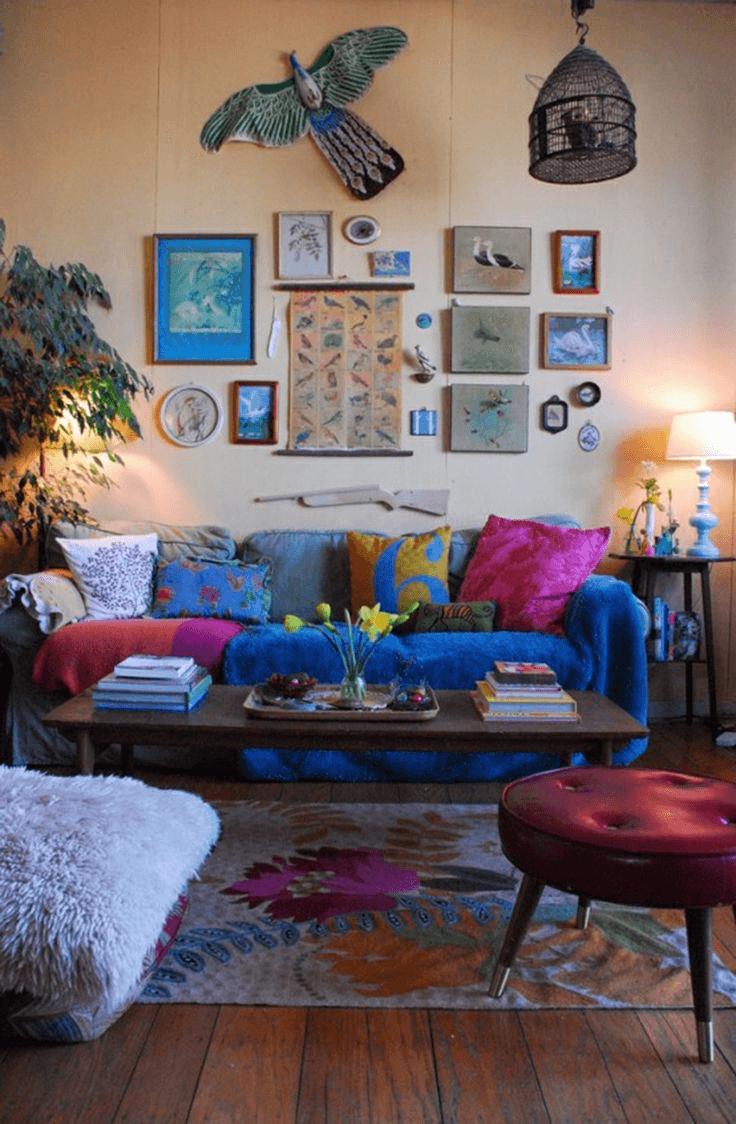 Boho living room decor ideas for small space