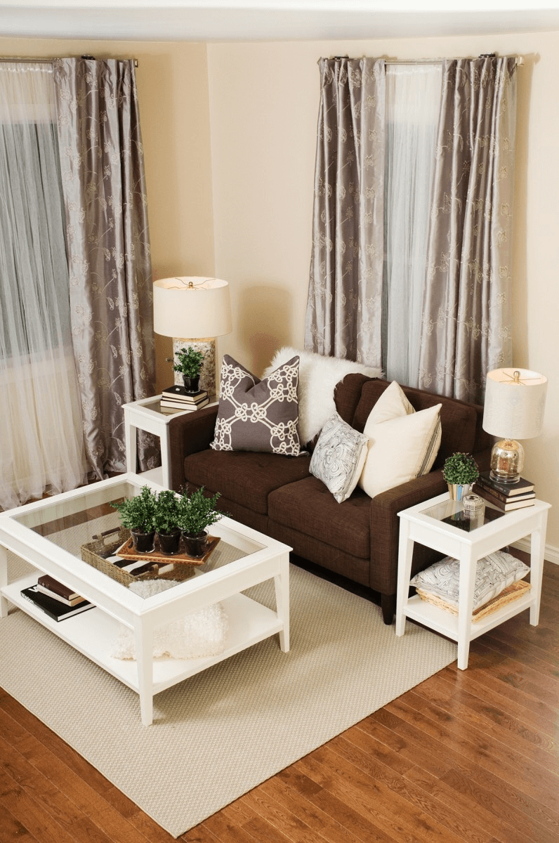 Brown couch decor cozy living rooms