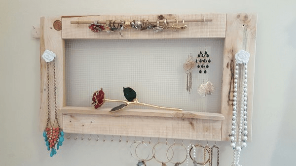 Handcrafted Jewelry Holder Wooden Home decor ideas