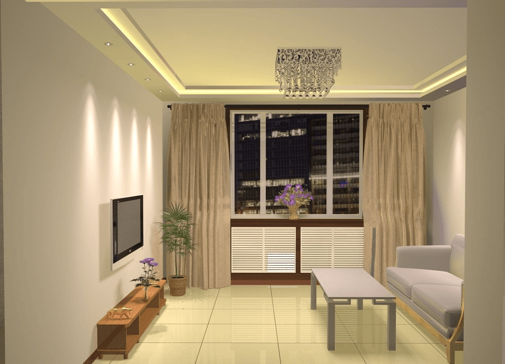 Home decor ideas for small living room with simple furniture and large window
