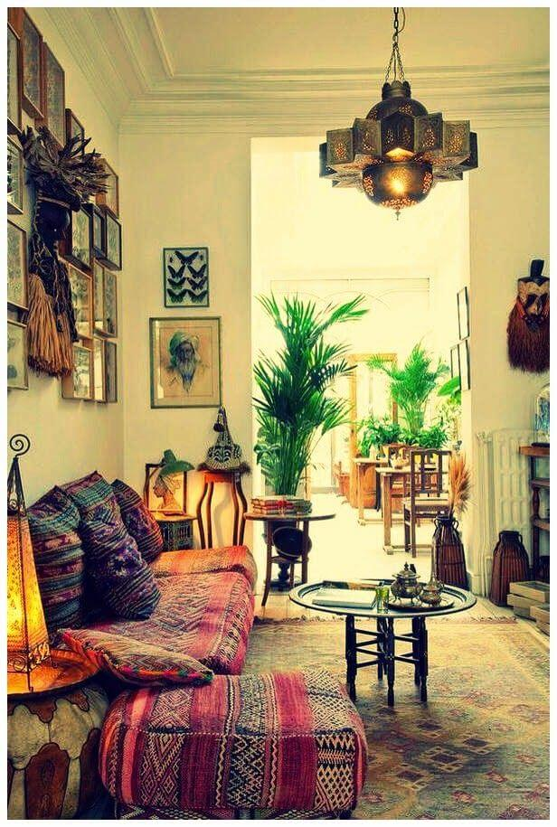 Indian living room decor bohemian style for Living room decoration indian style