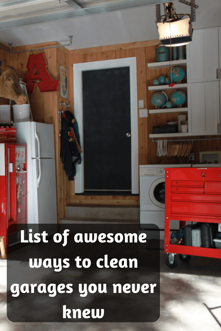 List of awesome ways to clean garages you never knew. Get Ideas