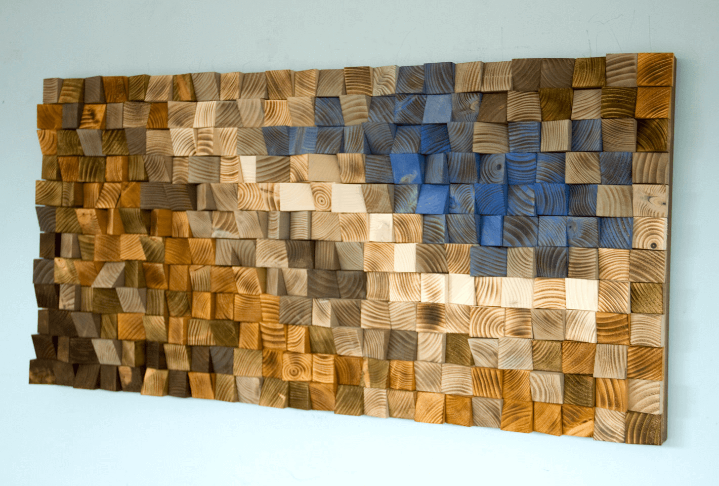 Recycled wood wall decor