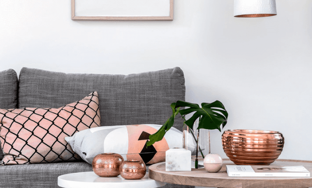 Rose Gold Living Room Decor Ideas New Trend 2018